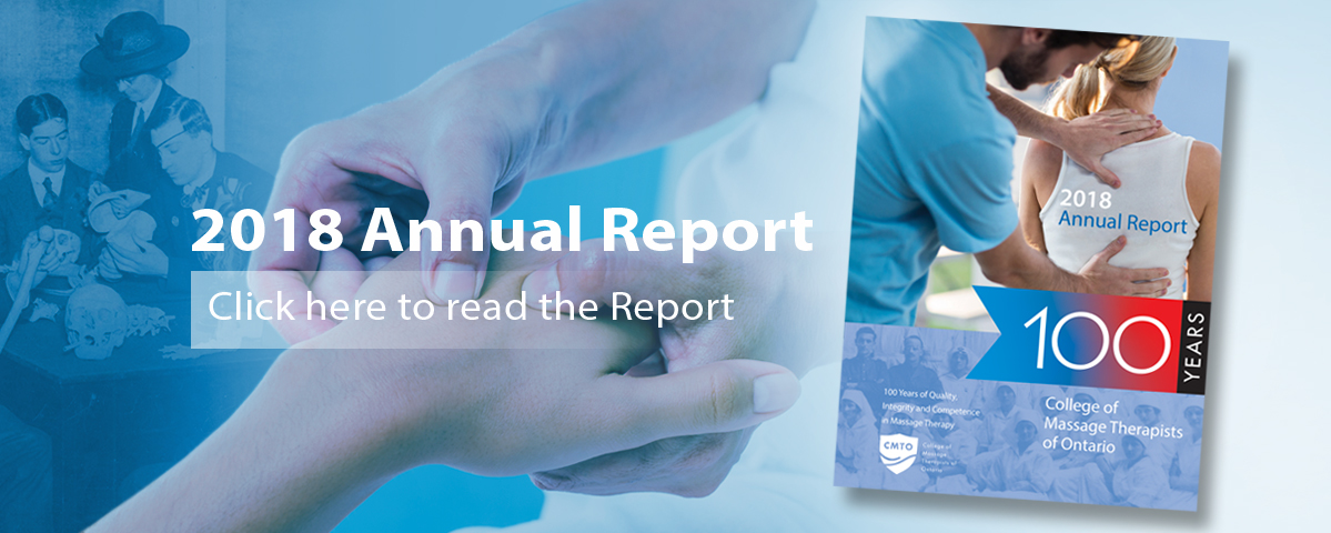 2018 Annual Report - College of Massage Therapists of Ontario